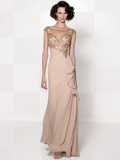 Bateau Neckline Cameron BlakeSocial Occasion Gown 114661