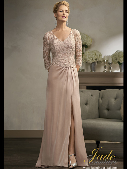 Jade Couture K198002 V-neck Mother Of The Bride