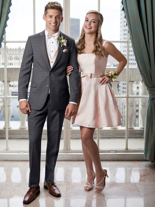 grey plaid prom tuxedo dimitra designs prom tuxes