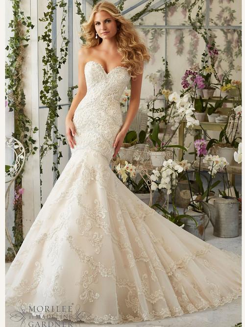 Mori Lee 2801 Sweetheart Beaded Bridal Dress