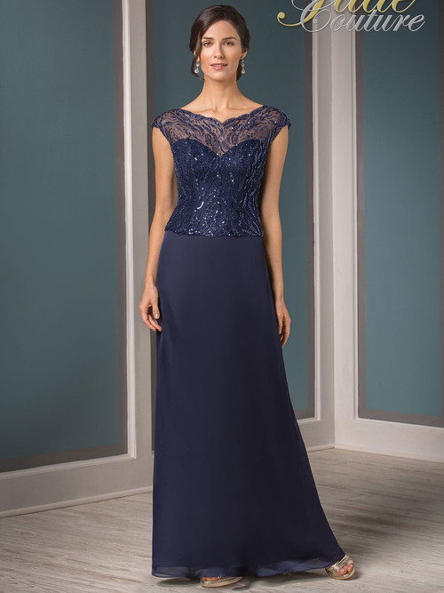 Jade Couture K188013 Cap Sleeves Mother Of The Bride Dress