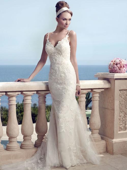 Casablanca 2153 Spaghetti Strapped Wedding Dress