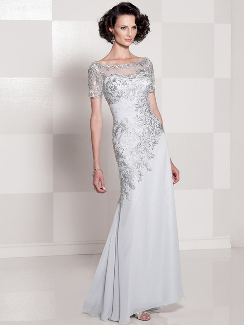 Short Sleeves Cameron Blake Social Occasion Gown 114662
