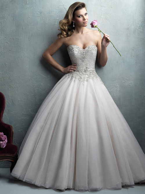Allure Couture Wedding Dress C323 Crystal Embroidered Bodice