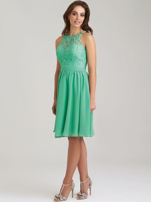 Allure 1464 High Neck Bridesmaid Dress