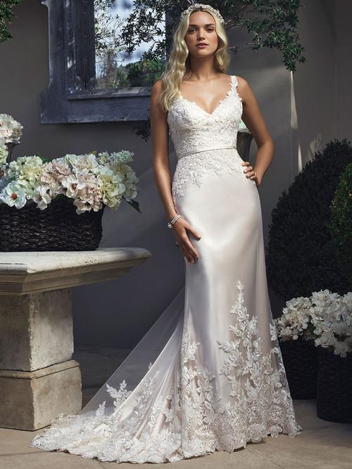 Casablanca 2210 Lace Tank Straps Wedding Dress