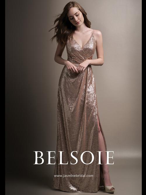 Belsoie L194008 V-neck Bridesmaid Dress