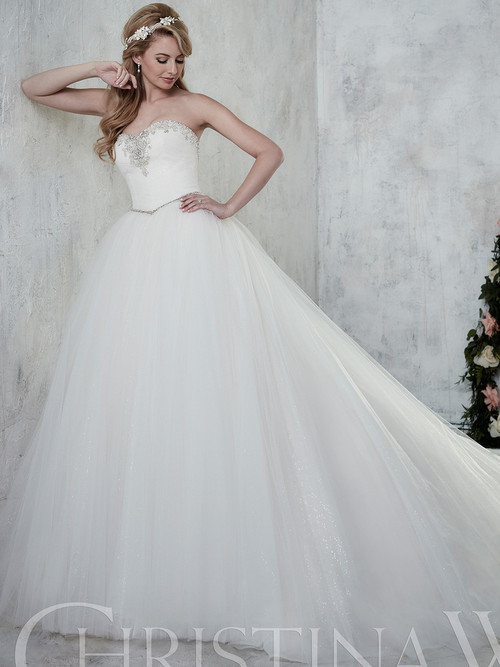 white sweetheart wedding gown christina wu 15609