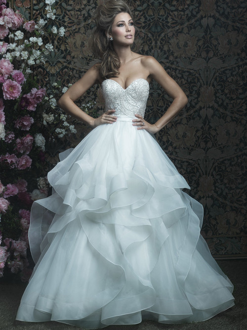 Allure Couture C417 Sweetheart Wedding Dress