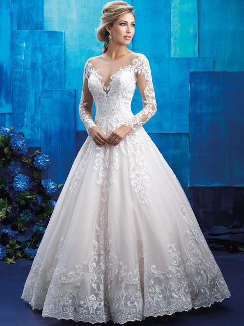 Allure Bridals 9411 Long Sleeves Wedding Gown