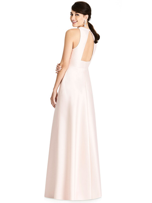 V-neck Alfred Sung Bridesmaid Dress D747