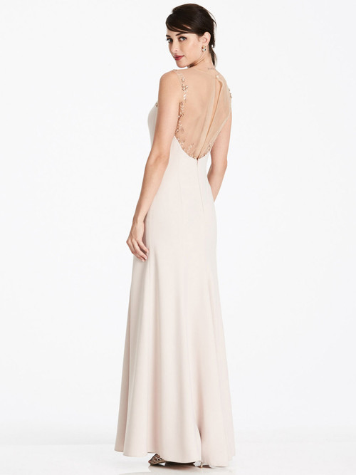 Crepe Long Dessy Bridesmaid Dress 2964