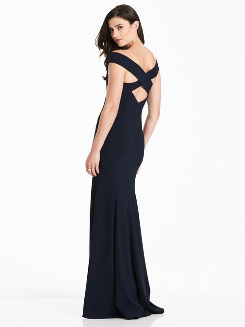 Off The Shoulder Dessy Bridesmaid Dress 3012