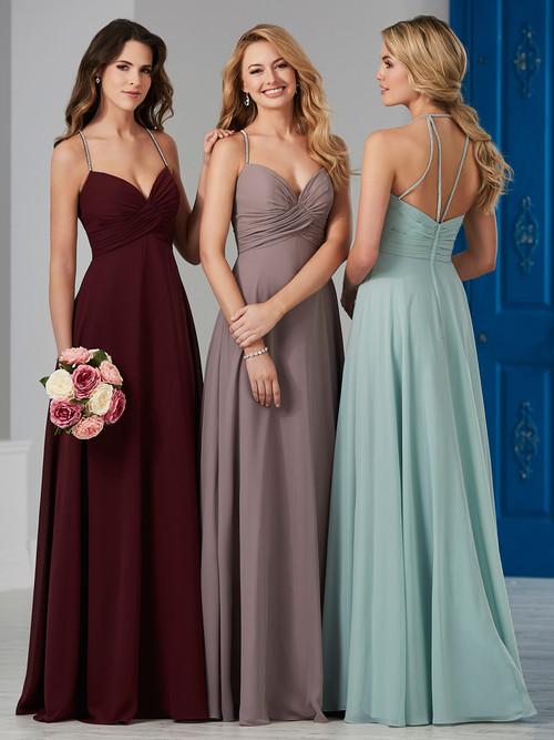 Chiffon Strappy Bridesmaid Dress by Christina Wu 22831