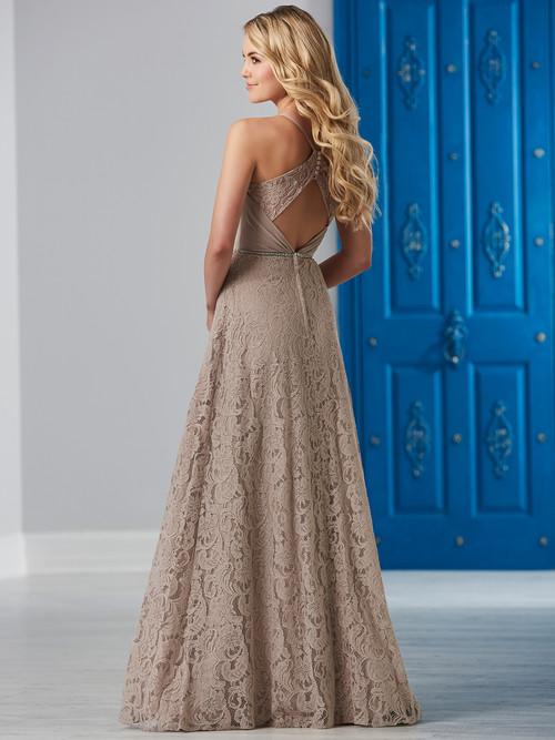 Lace Open Back Christina Wu Celebrations Bridesmaid Dress 22837
