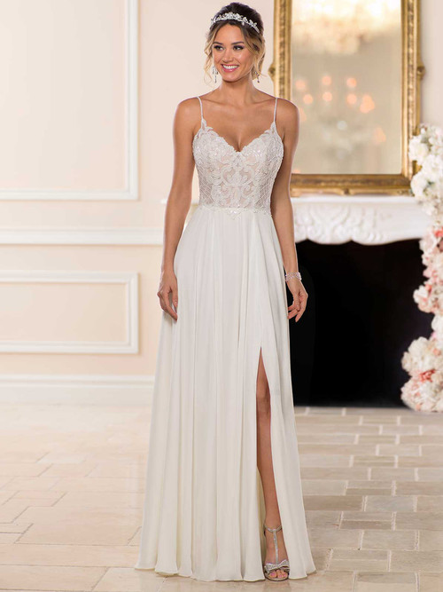 V-neck wedding gown Stella York 6747