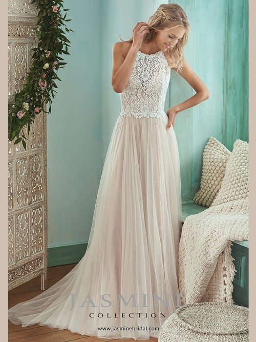 Halter A-line wedding gown Jasmine F201006