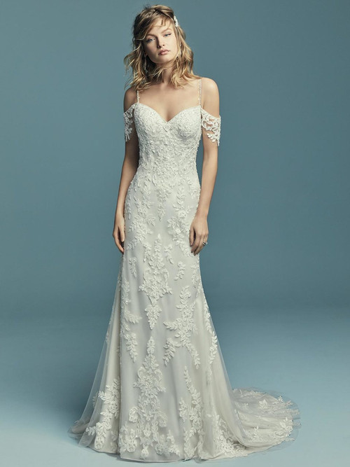 Cold Shoulder wedding gown Maggie Sottero Angelica