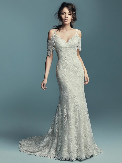 Cold Shoulder wedding gown Maggie Sottero Elliana