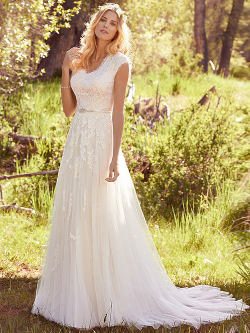 Cap Sleeves wedding gown Maggie Sottero Ashley