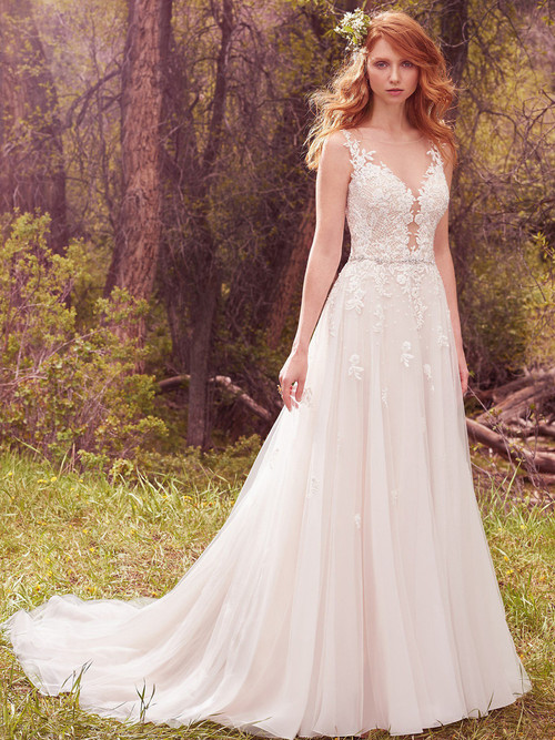 A-line wedding gown Maggie Sottero Avery