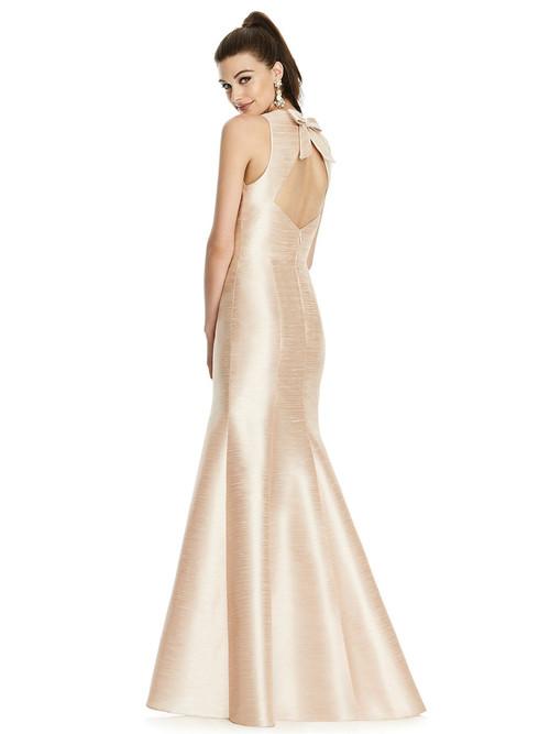 Dupioni Mermaid Alfred Sung Bridesmaid Dress D734
