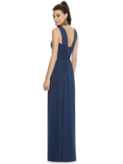 Chiffon Alfred Sung Bridesmaid Dress D740 with Empire Waistline