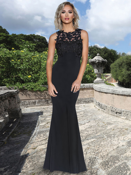Lace Top Chiffon  Bridesmaid Dress by Ashley & Justin 20352
