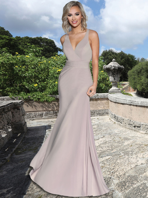 Halter A-Line Bridesmaid Dress by Ashley & Justin 20355