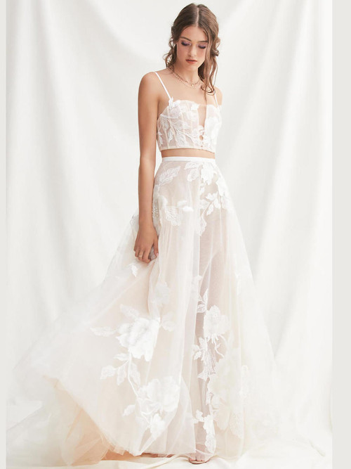 Spaghetti Straps wedding gown Willowby Layla 52118