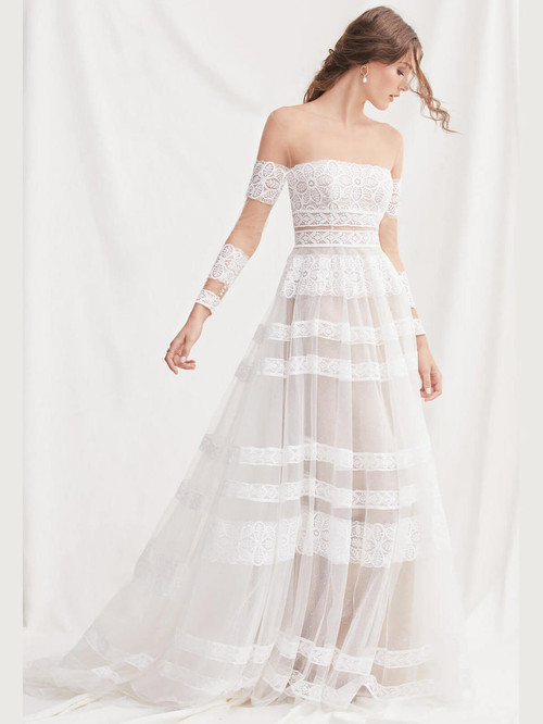 Off The Shoulder wedding gown Willowby Lennon 52702