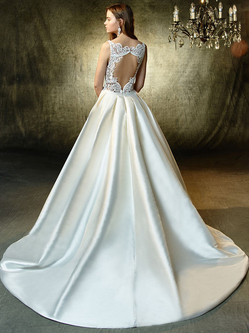 Blue by Enzoani A-Line Mikado Wedding Gown Lisette