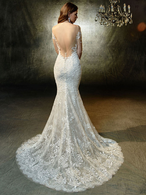 Blue by Enzoani Long Sleeved Wedding Gown Lonnie