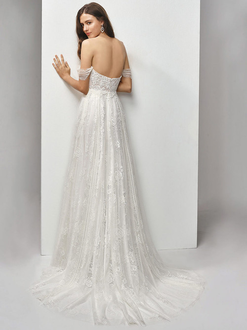 Enzoani Beautiful Off The Shoulder Wedding Gown BT19-7