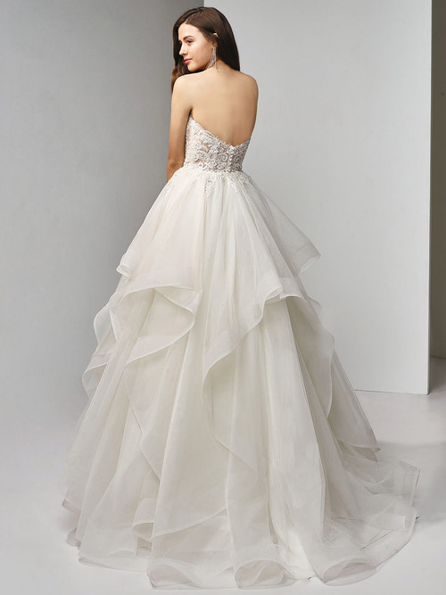 Enzoani Beautiful A-Line Tiered Wedding Gown BT19-9