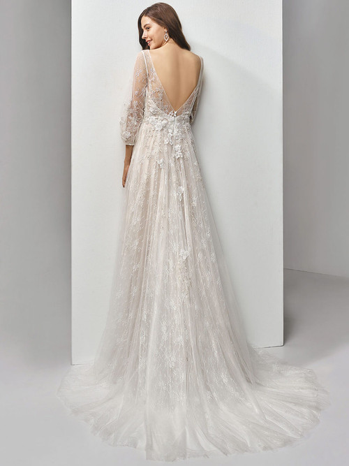 Enzoani Beautiful Illusion Sleeves Wedding Gown BT19-18