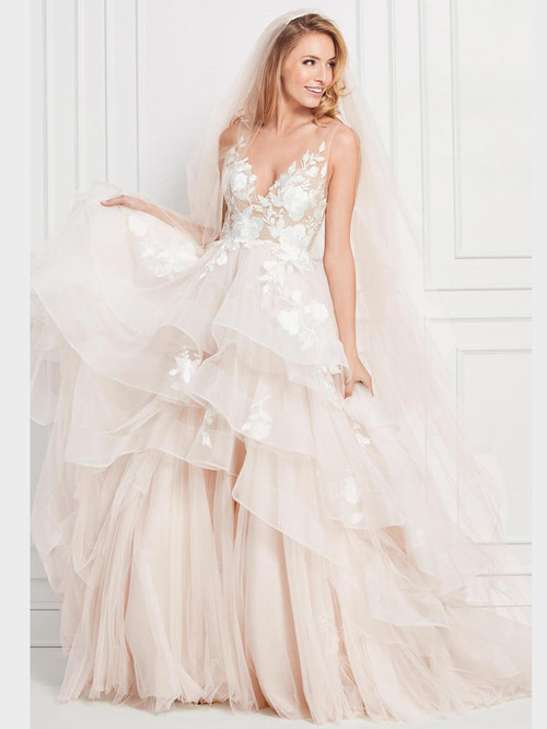 V-neck wedding gown Wtoo Montgomery 12716