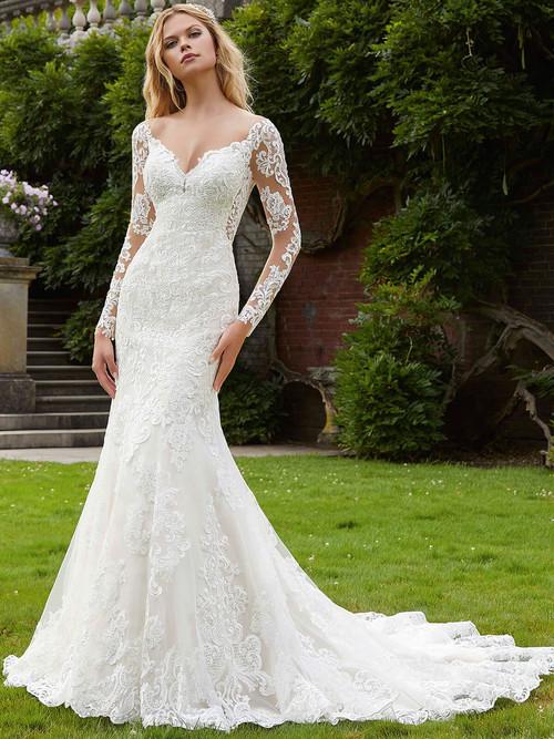 Long Sleeves wedding gown Mori Lee Philomena 2040
