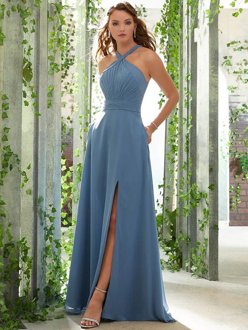 A-line bridesmaid dress Mori Lee 21613