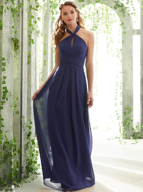 Halter bridesmaid dress Mori Lee 21616