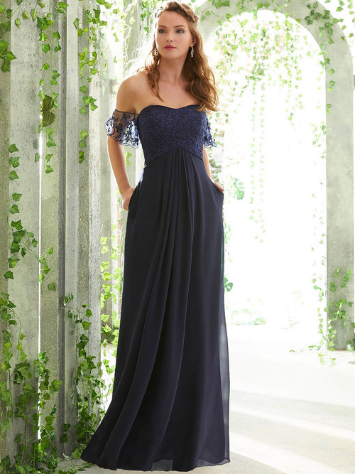 A-line bridesmaid dress Mori Lee 21617