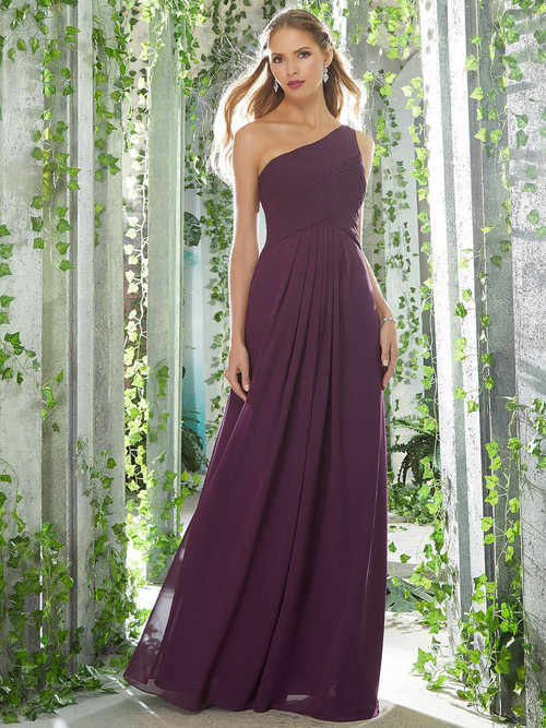 One Shoulder bridesmaid dress Mori Lee 21619