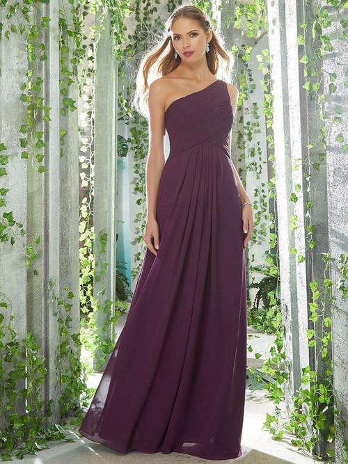 One Shoulder bridesmaid dress Mori Lee 21619