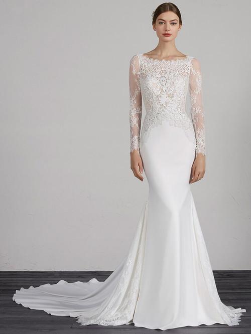 Long Sleeves wedding dress Pronovias Mistic