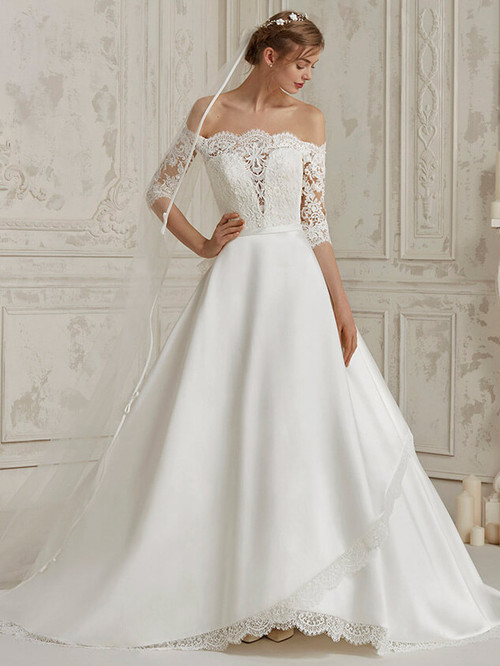 Off The Shoulder wedding dress Pronovias Mural