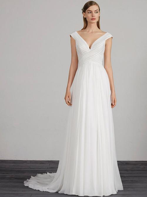 A-line wedding dress Pronovias Musique