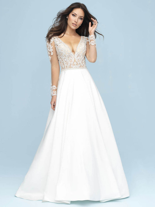 Long Sleeves wedding gown Allure Bridals 9614