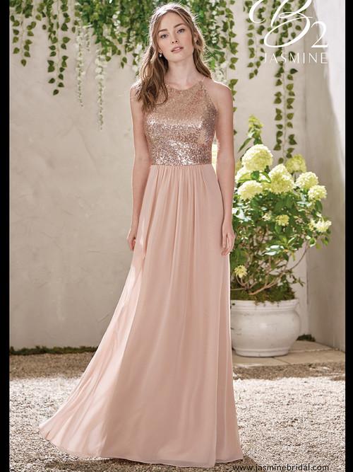 High Neck Bridesmaid Dress B2 B193007