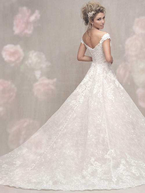 Allure Couture Off The Shoulder Wedding Gown C461
