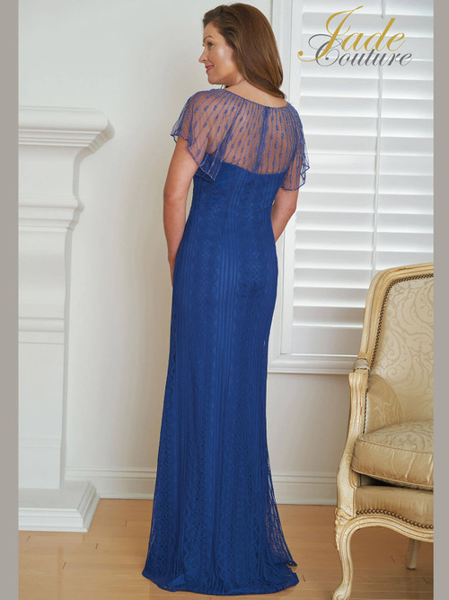 Sleeved Jade Couture Mother of The Bride Gown K218010
